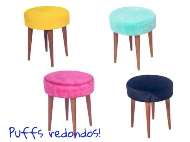 puffs decorativos
