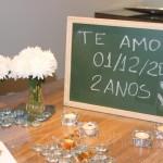 Jantar de comemoração de 2 anos de casados!