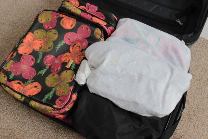 como arrumar uma mala