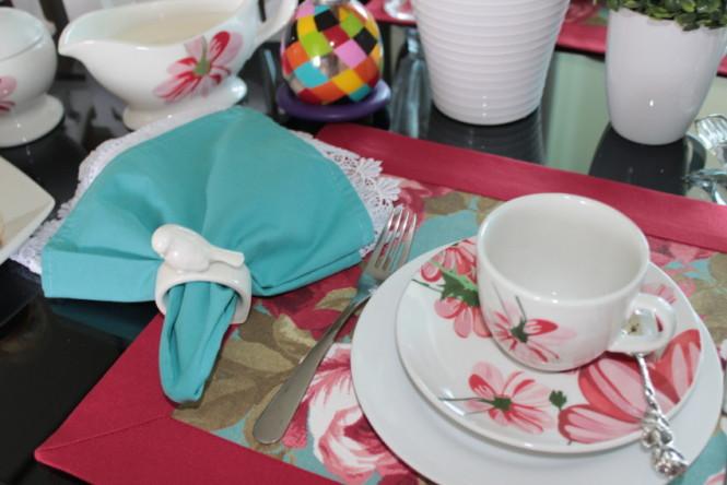 Detalhes da mesa de café da manhã