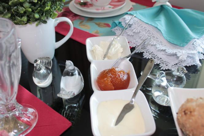 Adornos para mesa de café da manhã