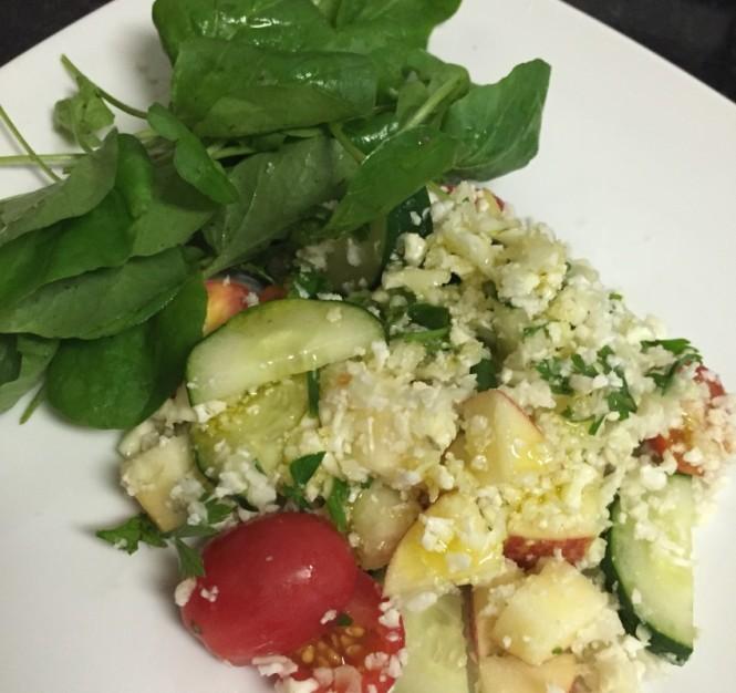 Salada detox finalizada