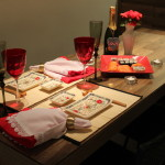 Mesa posta: Jantar japonês