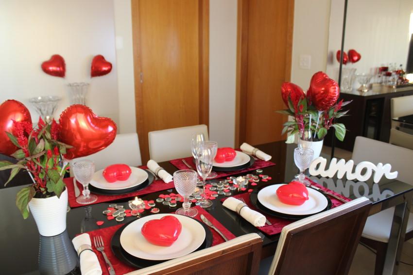 Mesa posta Jantar dia dos namorados Vida de Casada