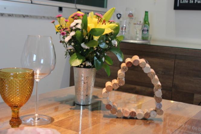 Coração de Rolhas de Vinho