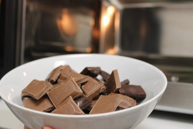 Barra de chocolate para fondue