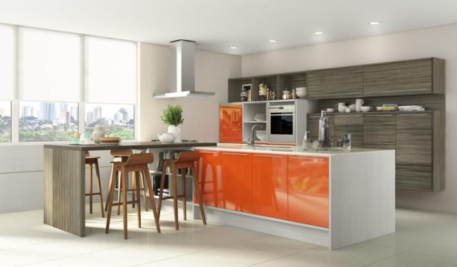 Cozinha colorida New Móveis