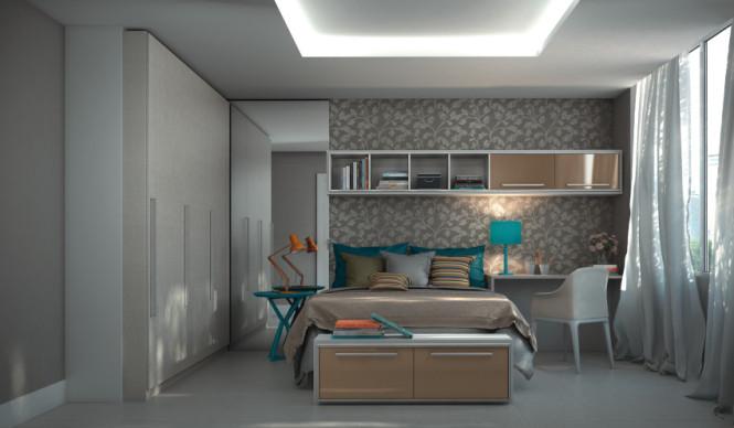 Quarto com escritório New Móveiss