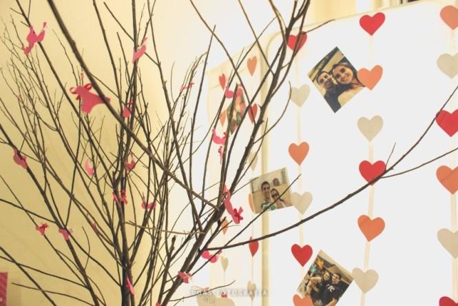 Árvore de recados da decoração de chá de lingerie