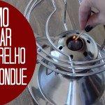 Como ligar o aparelho de fondue (rechaud) ?