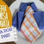 Dobra de guardanapo de Camisa e Gravata
