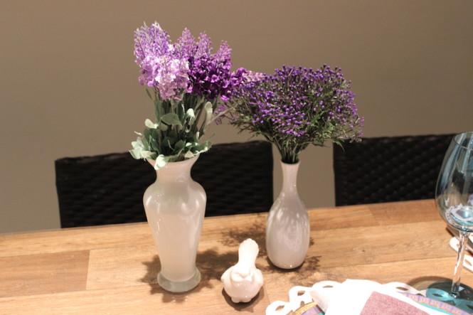 flor artificial roxa lavanda