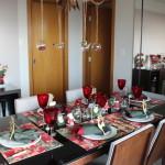 Decoração de mesa de Natal para almoço
