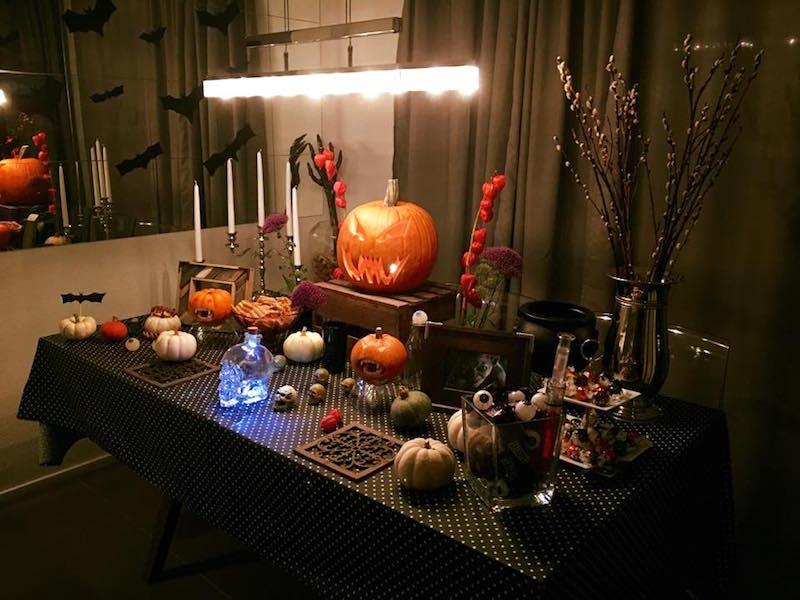 mesa de halloween