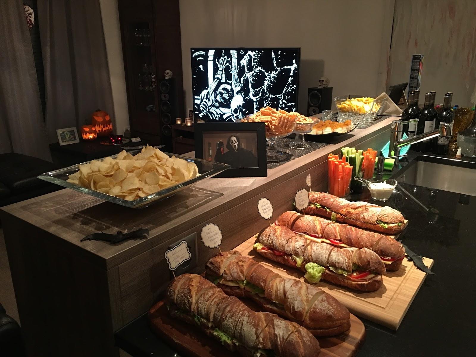 recepção de halloween