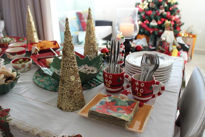 decoracao de mesa de natal