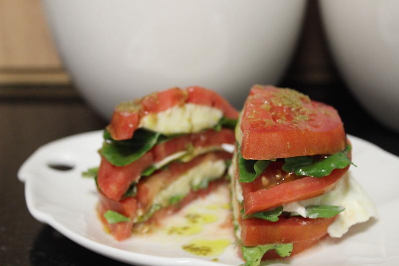 sanduiche de salada capresa