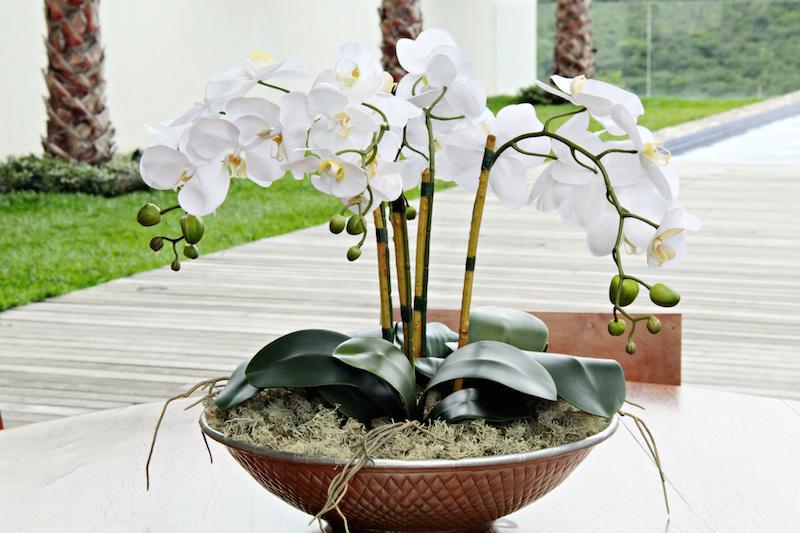 arranjo de orquidea artificial