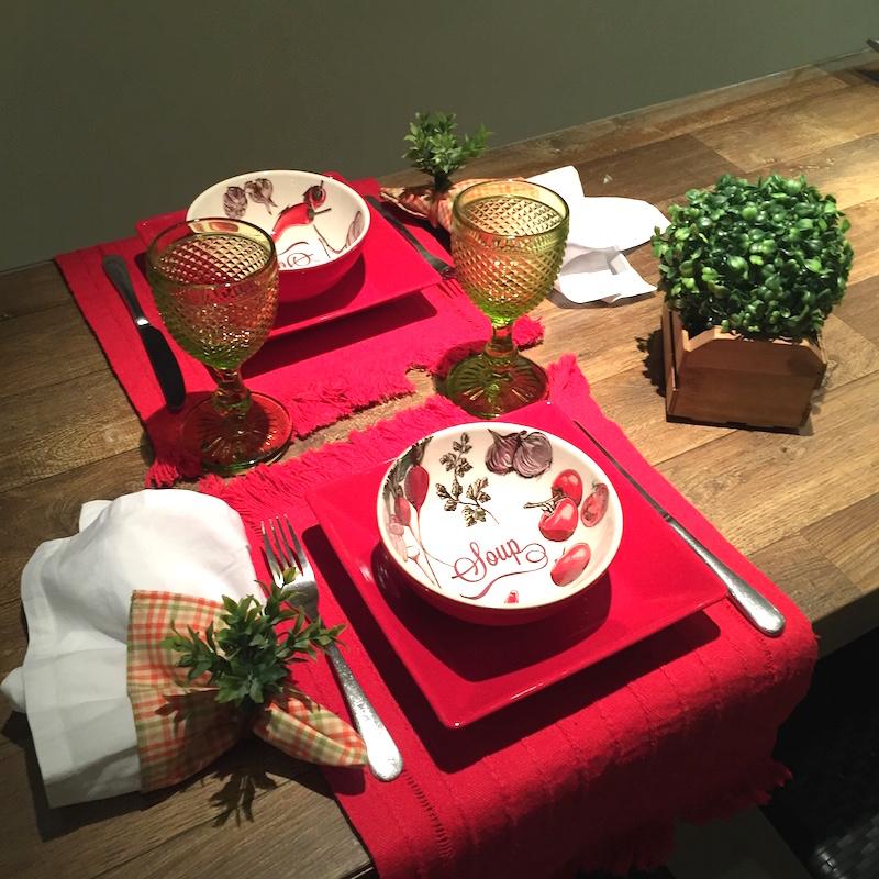 mesa para macarrao