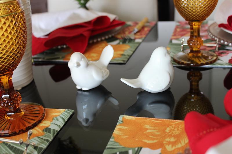 passarinhos para decorar mesa