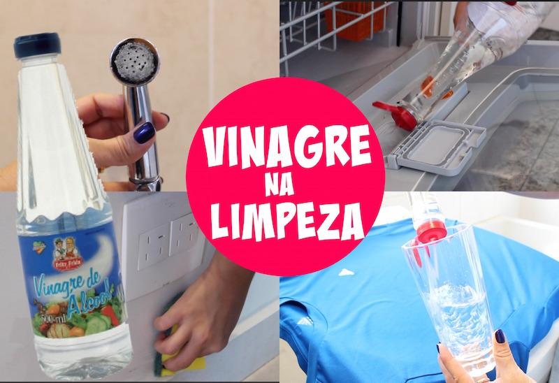 vinagre na limpeza