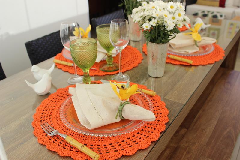 mesa posta almoco