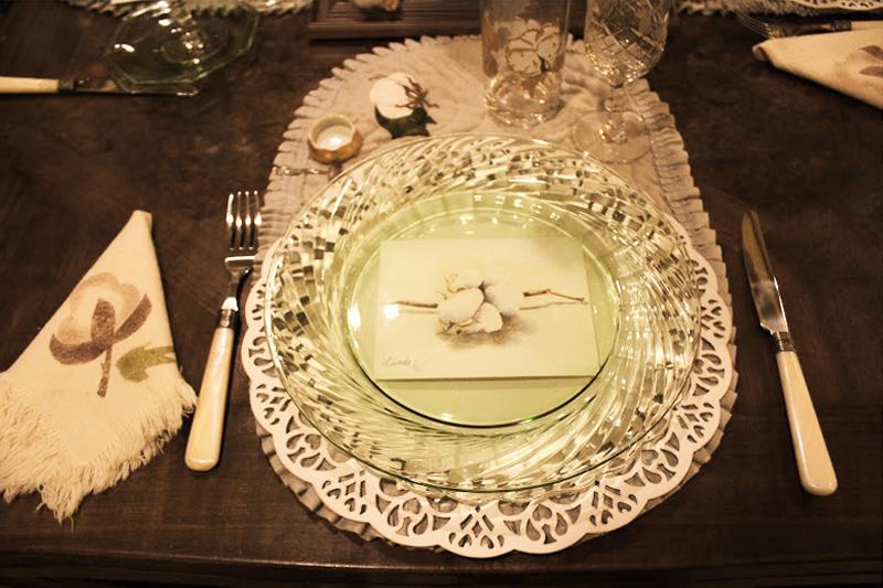 mesa posta bodas de algodao