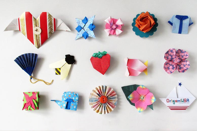 origami de papel para um ano de casado