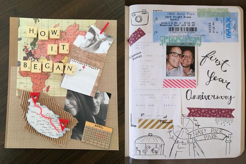 scrapbook aniversario de casamento