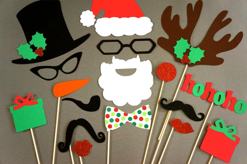 cabine de fotos de Natal