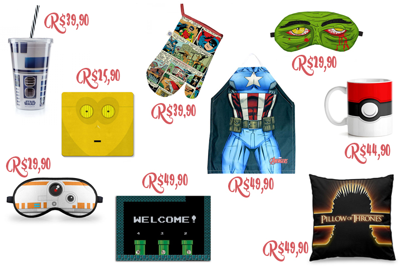 ideias de presentes geeks e nerds