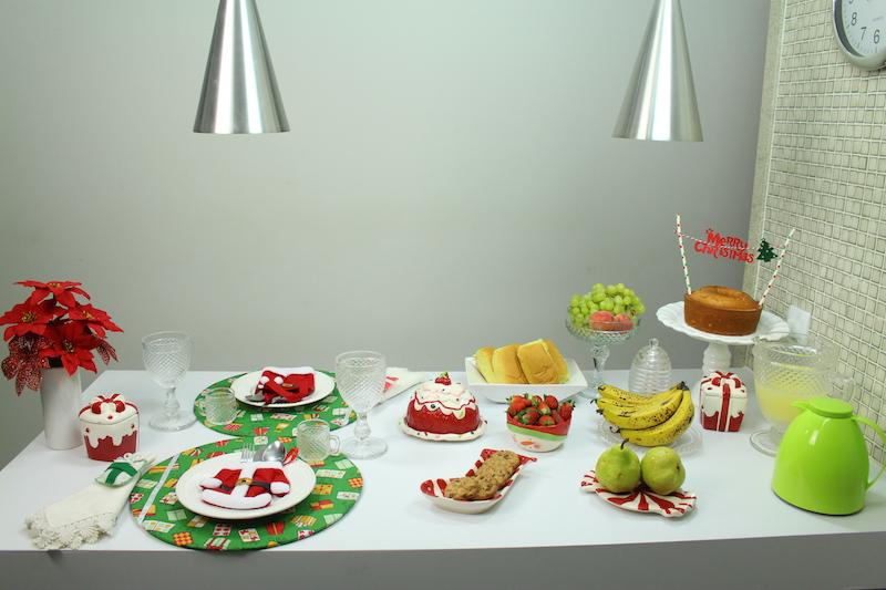 mesa de natal cafe
