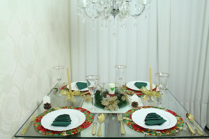 mesa de natal paloma