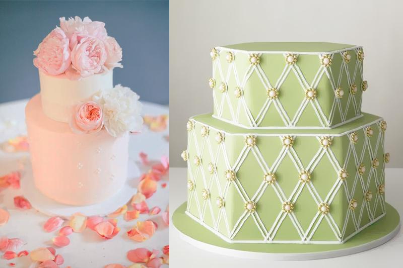 bolos de casamento com decoracao simples