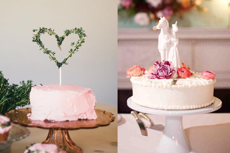 bolos de casamento pequenos e charmosos