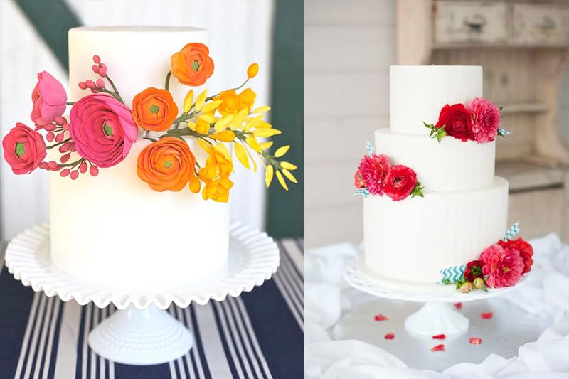 bolos simples decorados com flores