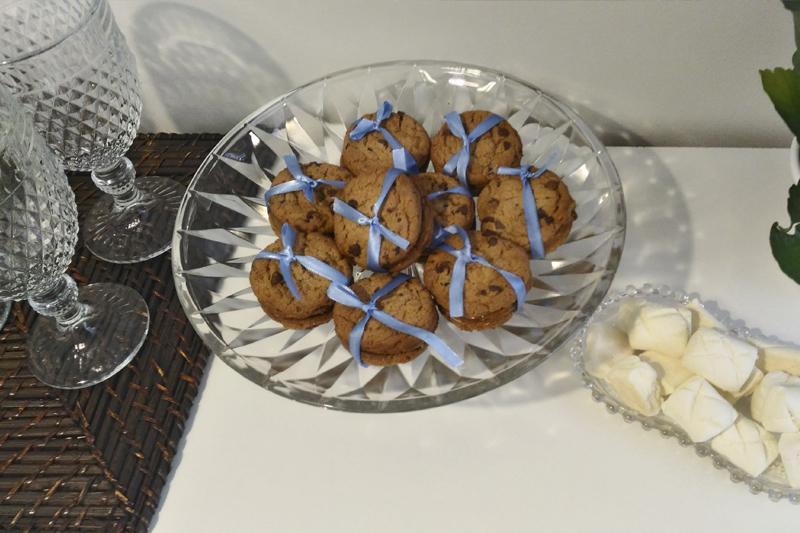 cookies com recheio de doce de leite cha da tarde