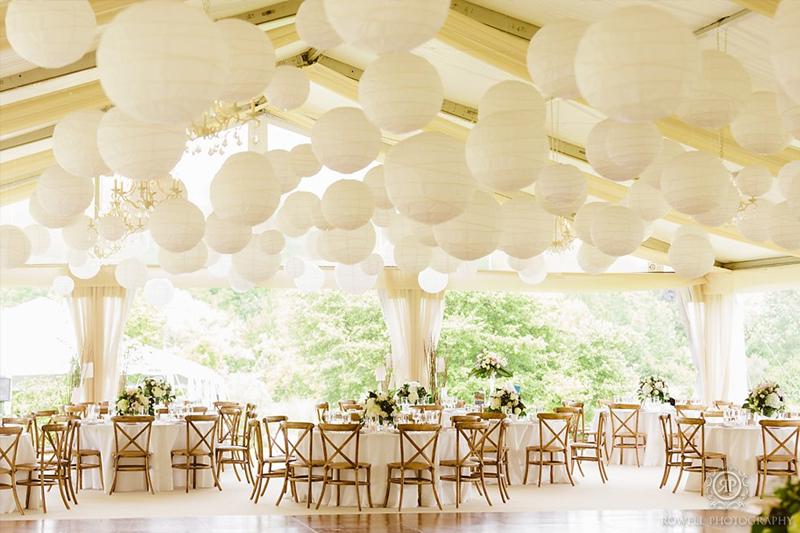 decoracao de festa de casamento simples lanternas de papel