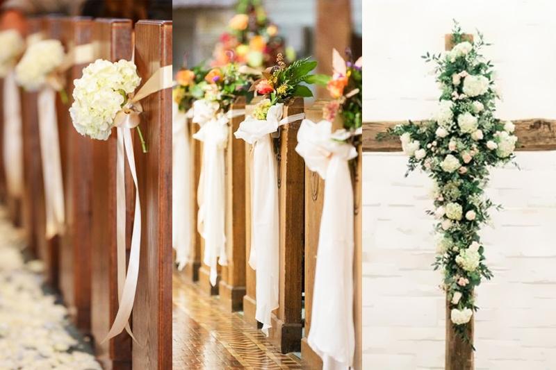 decoracao para casamento simples na igreja flores