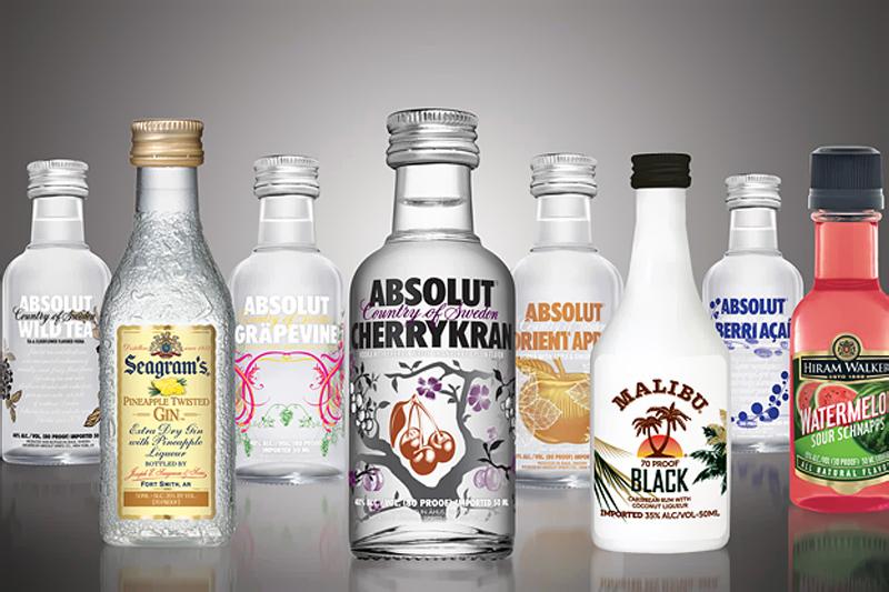 presente para padrinho miniaturas de bebidas