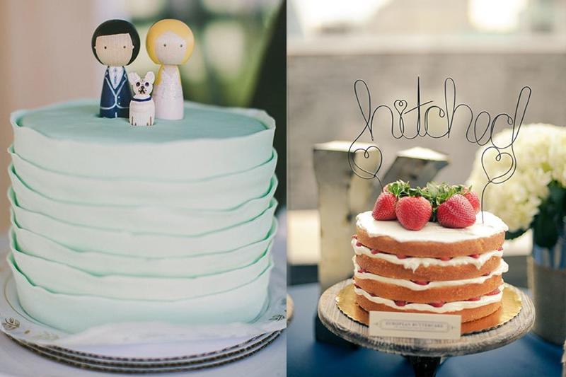 topos de bolo de casamento criativos
