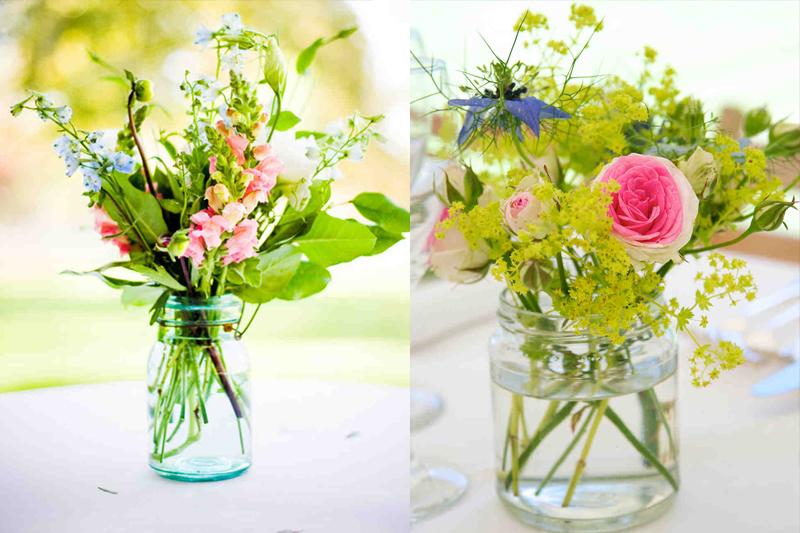 vasos de flores para casamentos simples