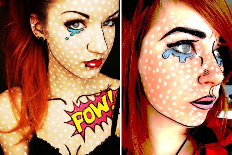 maquiagem criativa para o carnaval