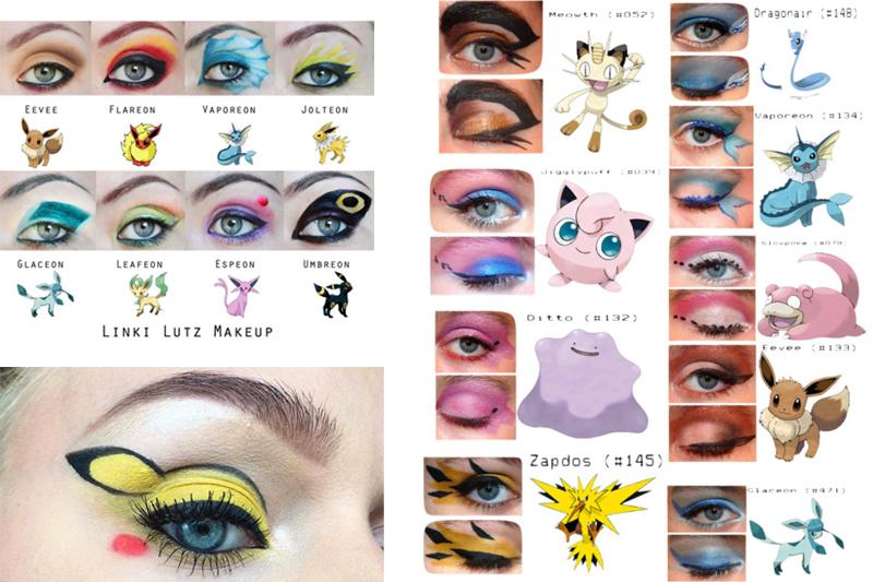 maquiagem inspirada em pokemon para carnaval