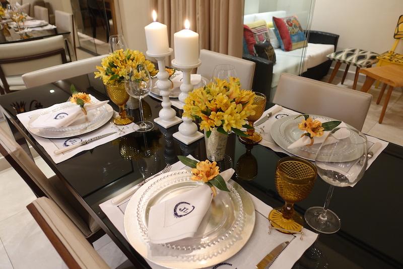 Mesa posta jantar elegante
