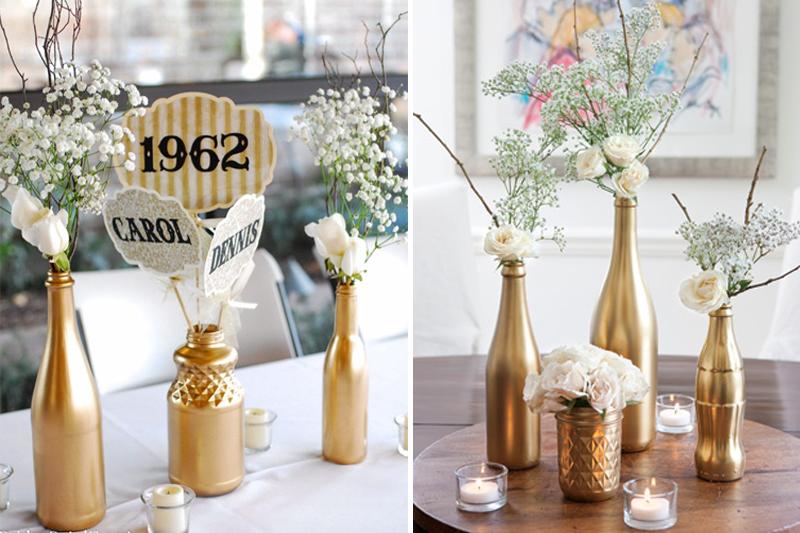bodas de ouro decoracao dourada