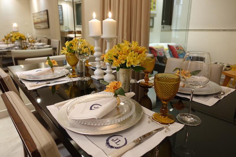 decoracao mesa posta jantar