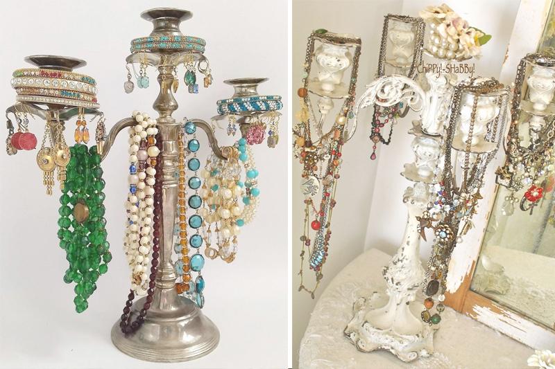como organizar bijuteria candelabros