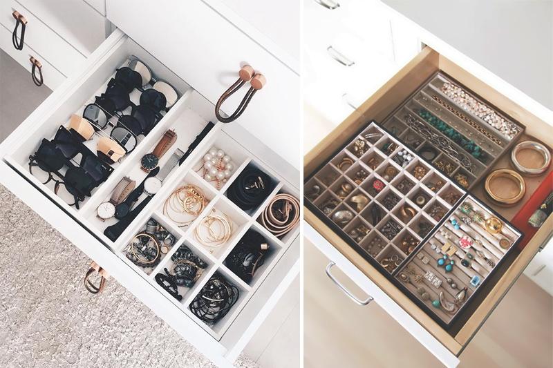 como organizar bijuteria organizadores para gavetas