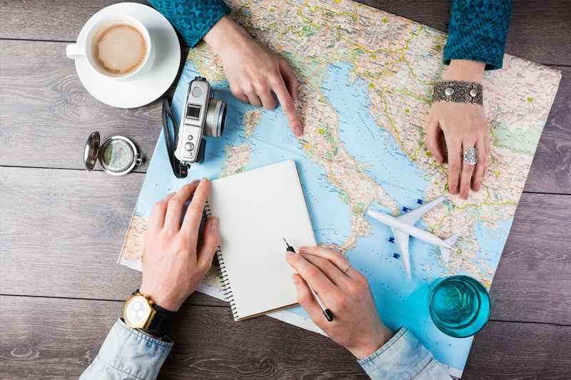 como organizar sua viagem faca um roteiro